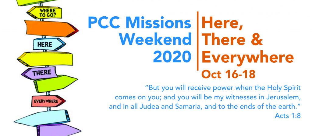 pcc missions weekend 2020 graphic